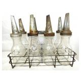 ORG. GLASS BOTTLES W/CARRIER