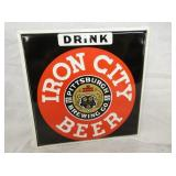 8X8 IRON CITY BEER SIGN