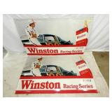 2 36X59 EMB. WINSTON W/CARS SIGN