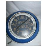 20IN. MANSFIELD TIRES NEON CLOCK