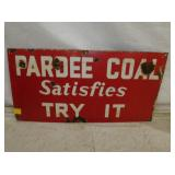 12X24 PORC. PARDEE COAL SIGN