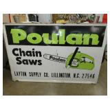46X70 EMB. POULAN CHAINSAW SIGN