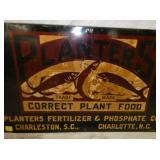 VIEW 2 CLOSE UP PLANTERS SIGN W/FISH