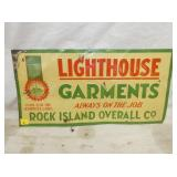12X24 EMB. LIGHTHOUSE GARMENTS SIGN