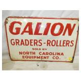 16X24 EMB. GALION GRADERS SIGN