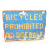 18X24 EMB. BICYCLES PROHIBITED SIGN