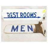 PORC. RESTROOMS / MENS FLANGE SIGNS
