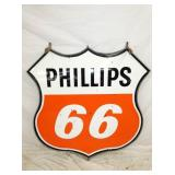 48IN PORC. PHILLIPS 66 W/ FRAME