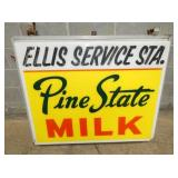42X48 PINE STATE MILK LIGHTED SIGN