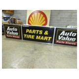 36X168 PARTS & TIRE MART LIGHTED SIGN