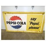 36X67 EMB. SAY PEPSI PLEASE SIGN