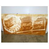45X93 EMB. PEPSI MORE BOUNCE SIGN