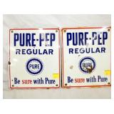 PORC. PURE PEP PUMP SIGNS