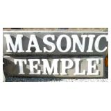 48X96 MASONIC TEMPLE INCERT SIGN