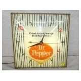 15IN DR. PEPPER LIGHTED CLOCK