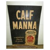 24X36 EARLY CALF MANNA FEED FEED SIGN