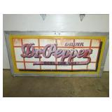 33X69 EMB. DR. PEPPER FRAMED SIGN