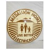 18IN NOS EMB. MEDALLION HOME SIGN