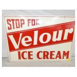 20X28 VELOUR ICE CREAM SIGN