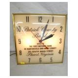 16IN PATRICK CO. BANK LIGHTED CLOCK