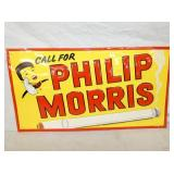 14X27 EMB. PHILIP MORRIS SIGN