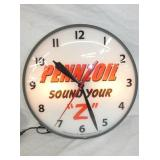 PENNZOIL SOUND YOUR Z CLOCK