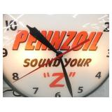 VIEW 2 CLOSEUP PENNZOIL CLOCK