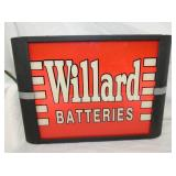 12X17 WILLARD BATTERIES LIGHTUP SIGN
