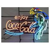 ENJOY COCA COLA NEON W/ PARROT