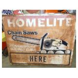 48X60 HOMELITE CHAIN SAWS SIGN