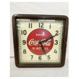 EARLY COKE CLOCK W/WOODEN FRAME