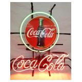 COCA COLA NEON W/ BUTTON