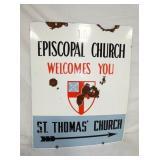 24X30 PORC. THOMAS CHURCH SIGN