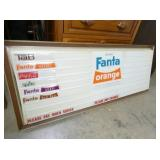 VIEW 2 LIGHTED FANTA ORANGE LIGHTUP SIGN