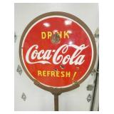 VIEW 3 PORC. Coca Cola REFRESH SIGN