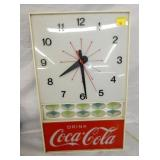12X20 LIGHTED Coca Cola ADV. CLOCK