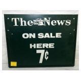 11X14 WASHINGTON NEWS TACKER SIGN