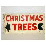18X35 WOODEN CHRISTMAS TREE SIGN