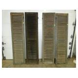 18X80 EARLY WOODEN SHUTTERS