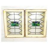 20X28 STAINED GLASS WINDOWS