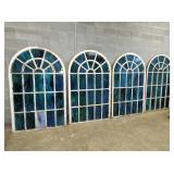 GROUP SHOT ARCHED STAINED GLASS WINDOWS