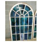 ORIG. STAINED GLASS ARCHED WINDOWS