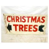 18X35 WOODEN CHRISTMAS TREES SIGN