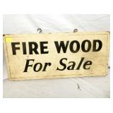 """FIRE WOOD"" SALE SIGN"