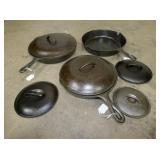 CAST IRON PANS, CHICKEN FRYER