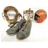 EARLY CATCHERS MASKS,CLEATS,HELMENT