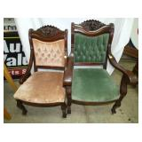VICTORIAN MAH. PARLOR CHAIRS