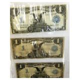 3 1899 $1 LG SILVER CERTIFICATES