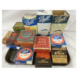 NOS CANNING LIDS AND RUBBERS