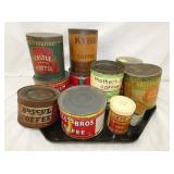 SEV. EARLY COFFEE TINS